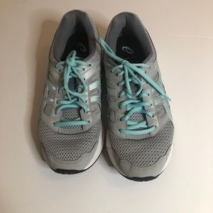 ASICS Gel Contend 5 Gray & Tiffany Blue Sneakers